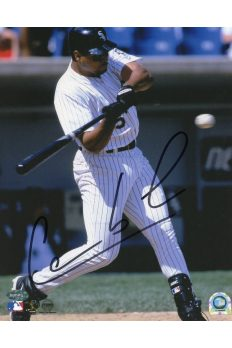 Carlos Lee 8x10 Photo Signed Autographed Auto Authenticated Mounted Memories