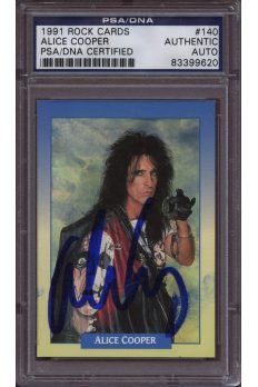 1991 Rock Cards Alice Cooper Auto Signed PSA DNA Authentic