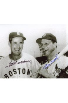 Ted Williams Stan Musial Signed 8x10 Photo Autographed