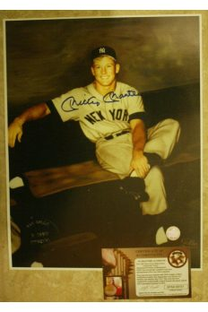 Mickey Mantle Signed 11x14 Signed Photo Autographed Gallo