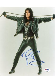 Alice Cooper 8x10 Photo Signed Autographed Auto PSA DNA Schools Out Posion