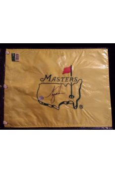 Tiger Woods Signed Undated Masters Pin Flag Autographed