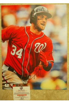 Bryce Harper Signed 11x14 Photo Autographed Auto GA GAI COA Nationals