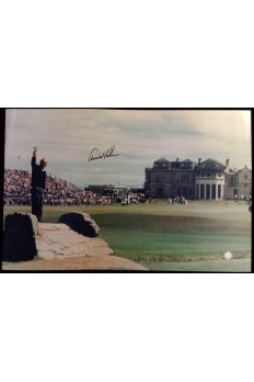 Arnold Palmer Signed 15x24 Photo 1995 British Open Final farewell