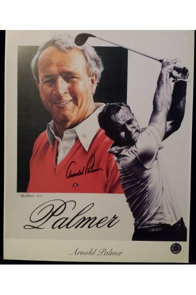 Arnold Palmer Signed 13x17 Lithograph Tim Cortes