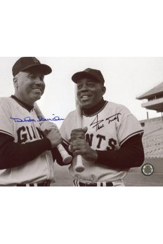 Willie Mays Duke Snider Signed 8x10 Photo Autographed