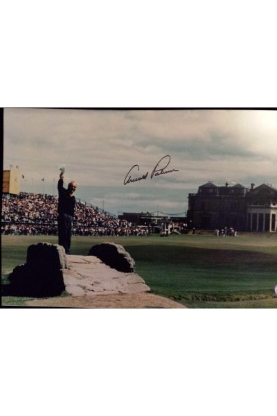 Arnold Palmer Signed 13x20 Photo 1995 British Open Final farewell