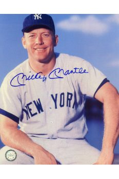 Mickey Mantle Signed 8x10 Photo Autographed Posed