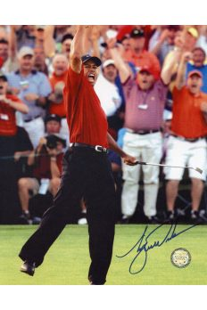 Tiger Woods Signed 8x10 Photo Autographed Masters Fist Pump