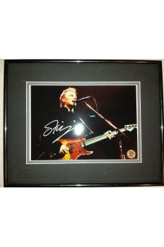 Sting 8x10 Signed Autographed Framed the Police