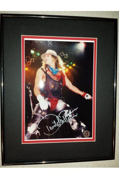 David Lee Roth 8x10 Signed Autographed Framed Van Halen