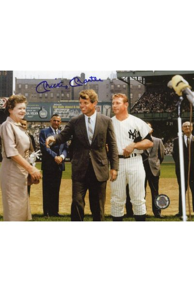 Mickey Mantle Signed 8x10 Photo Autographed with RFK Kennedy