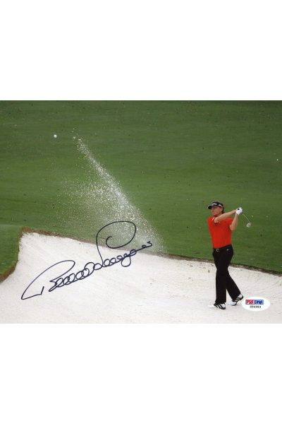 Benard Langer 8x10 Photo Signed Autographed Auto PSA DNA COA Masters Champion