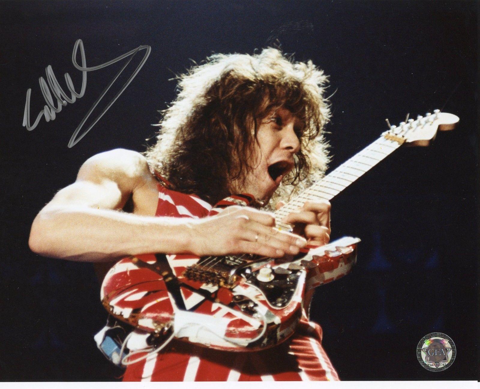 Eddie Van Halen 8x10 Signed Autographed Eruption GFA COA