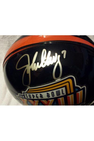 John Elway Terrell Davis Riddell Proline Helmet Auto Mounted Memories COA