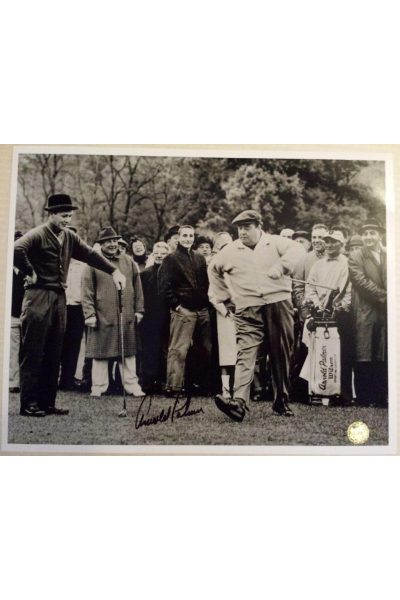 Arnold Palmer Signed 11x14 Photo Jackie Gleason 1961 Shawnee Valley Country Club