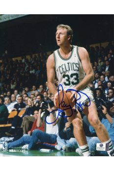 Larry Bird Signed 8x10 Photo Autographed Auto GA GAI COA Celtics HOF
