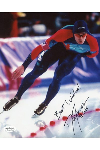 Dan Jansen 8x10 Photo Signed Autographed Auto JSA COA Olympic Gold Speed Skater