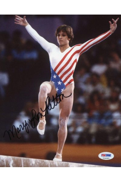 Mary Lou Retton 8x10 Photo Signed Autographed Auto PSA DNA Olympic Gold Gymnast