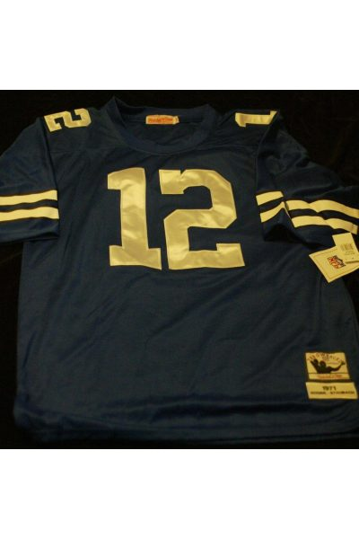 Roger Staubach Signed Autographed Jersey Mitchell and Ness 52 1971 Cowboys