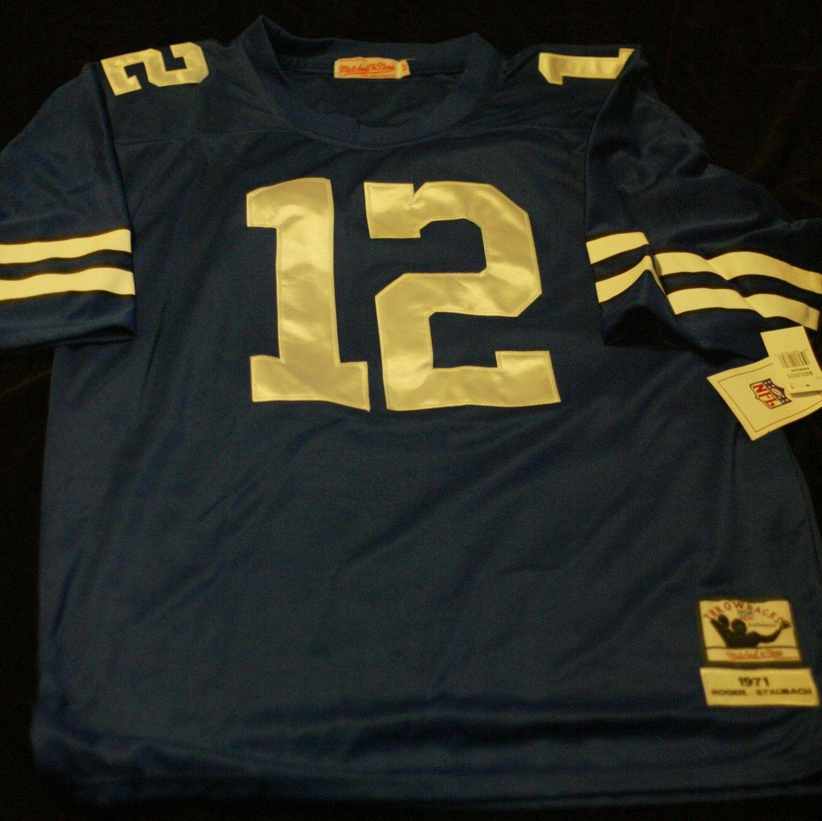 best loved f4aa8 3b4b0 Roger Staubach Signed Autographed Jersey Mitchell and Ness 52 1971 Cowboys