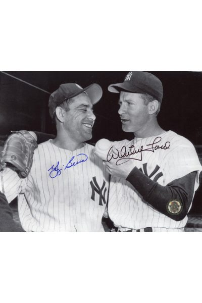 Yogi Berra Whitey Ford Signed 8x10 Photo Autographed