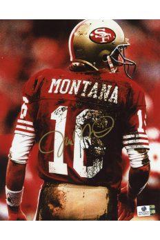 Joe Montana Signed 8x10 Photo Autographed Auto GA GAI COA 49ers Notre Dame HOF