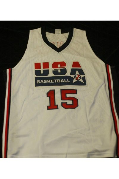 Magic Johnson Signed Autographed Jersey JSA Witness Team USA Lakers