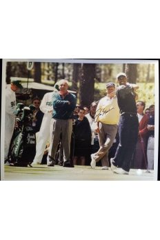 Jack Nicklaus Signed 16x20 Photo Tiger Woods Arnold Palmer 1996 Masters