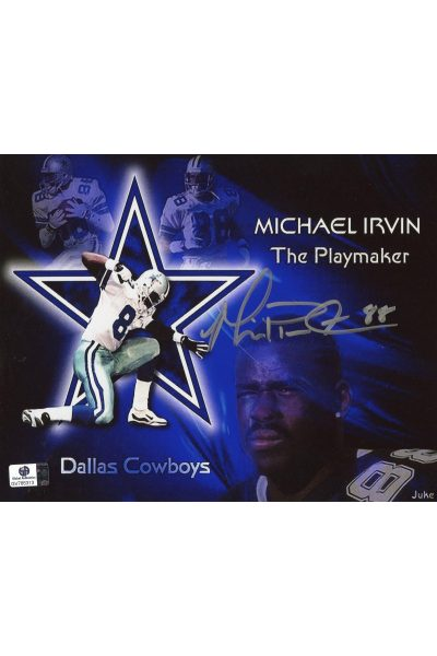 Michael Irvin Signed 8x10 Photo Autographed Auto GA GAI COA Cowboys HOF