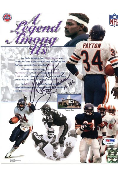 Walter Payton 8x10 Photo Signed Autographed Auto PSA DNA LOA Sweatness Bears HOF