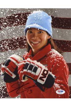 Julie Chu 8x10 Photo Signed Autographed Auto PSA DNA COA Gold Metal Hockey
