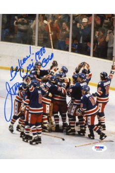 Jim Craig 8x10 Photo Signed Autographed PSA DNA 1980 Gold Metal Miracle on Ice