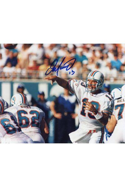 Dan Marino Signed 8x10 Photo Mounted Memories Autographed Auto COA Passing Hoz