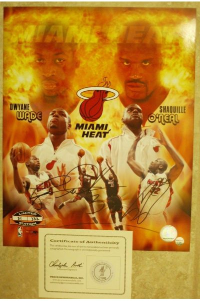 Shaquille O'Neal Dwyane Wade Signed 11x14 Signed Photo Autographed Auto Shaq LE