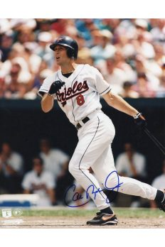 Cal Ripken Jr 8x10 Photo Autographed Auto Authenticated Stacks of Plaques COA