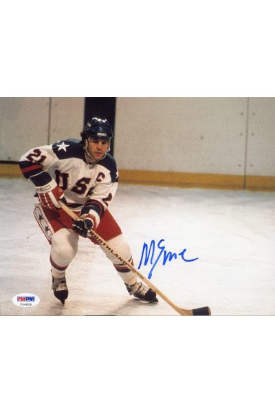 Mike Eruzione 8x10 Photo Signed Auto PSA DNA 1980 Gold Medal Miracle on Ice