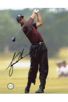Tiger Woods Signed 8x10 Photo Autographed Sunday Fairway Swing