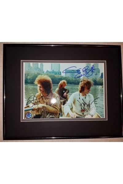 Cream 8x10 Signed Autographed Framed Eric Clapton Jack Bruce Ginger Baker