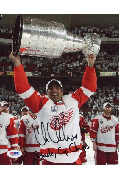 Chris Chelios 8x10 Photo Signed Autographed Auto PSA DNA Red Wings Blackhawks