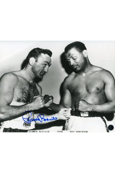Carmen Basilio 8x10 Photo Signed Autographe Authenticated COA Sugar Ray Robinson