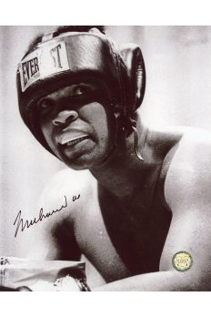 Muhammad Ali Signed 8x10 Photo Autographed In Headgear