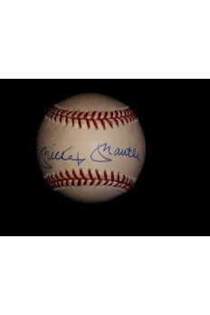 Mickey Mantle Signed Offical Baseball Autographed