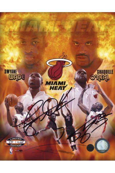 Dwyane Wade Shaquille O'Neal 8x10 Photo Signed Autographed Auto COA 2005 Heat LE