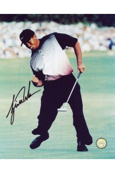 Tiger Woods Signed 8x10 Photo Autographed Older Fist Pump