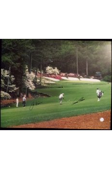 Arnold Palmer Jack Nicklaus Signed 16x20 Photo 2004 Masters Final Round