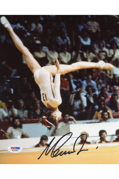 Nadia Comaneci 8x10 Photo Signed Autographed Auto PSA DNA Olympic Gold Gymnast
