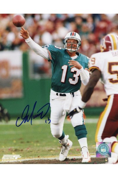 Dan Marino Signed 8x10 Photo Mounted Memories Autographed Passing COA