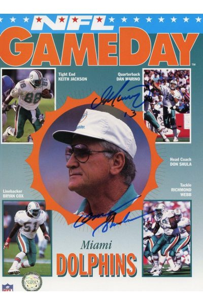 Dan Marino Don Shula Signed Gameday 8x10 Autographed