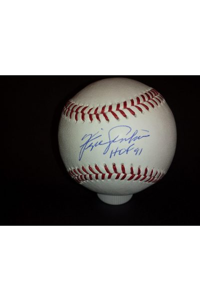 Fergie Jenkins Signed Offical Baseball Autographed Auto Steiner HOF 91 Inscribed